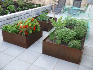 Plantekasser cortenstål